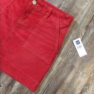 🍁NWT❤️ GAP Rustic Red Corduroy Skirt Sz 6